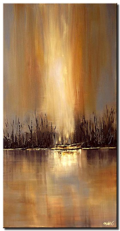 river meadow vertical painting