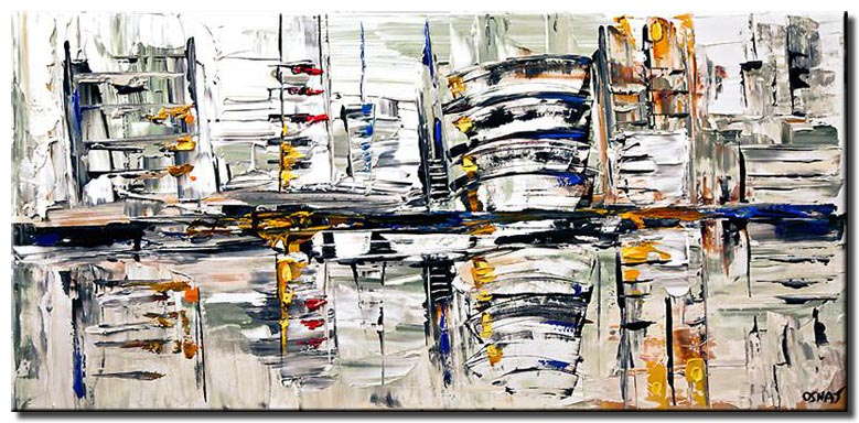 abstract cityscape in white
