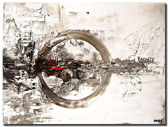 white abstract art painting