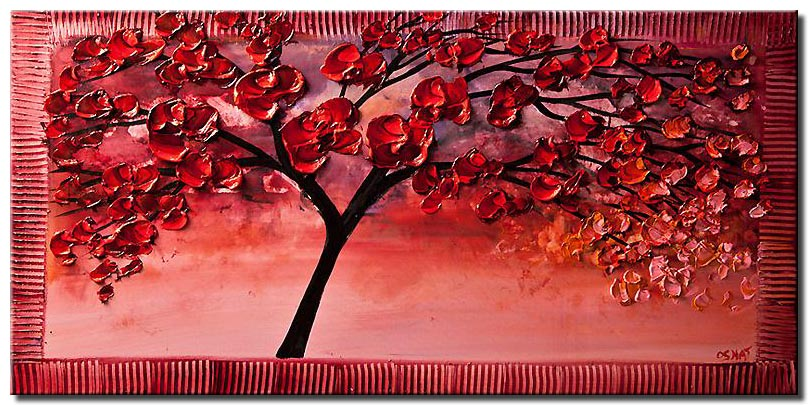 blooming cherry tree painting