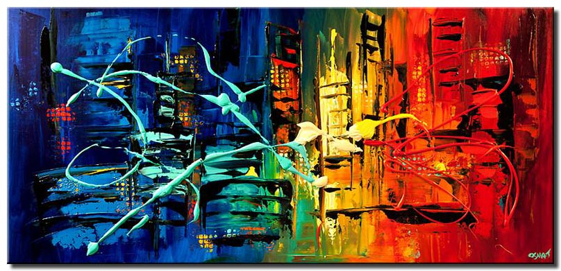 colorful abstract cityscape