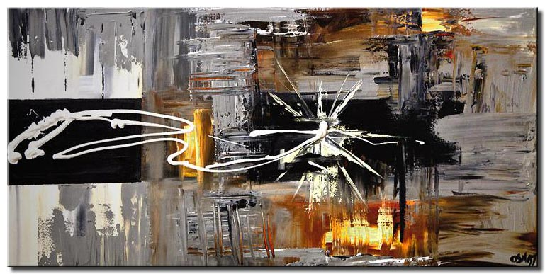 modern abstract wall painting