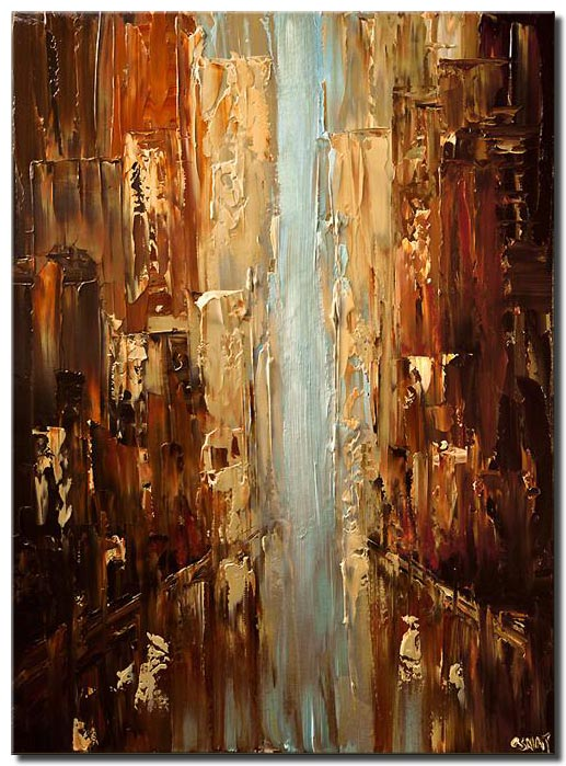 abstract city palette knife