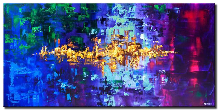 canvas print of abstract art emerald city