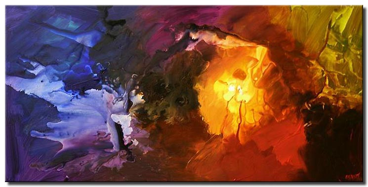 canvas print of colorful modern abstract painting