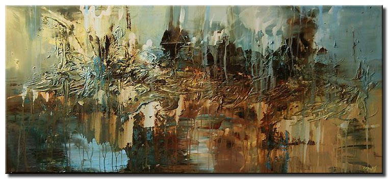 canvas print of large contemporary painting