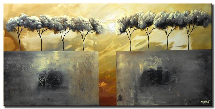 canvas print of abstract landscape painting