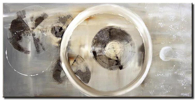 canvas print of gray abstract circles