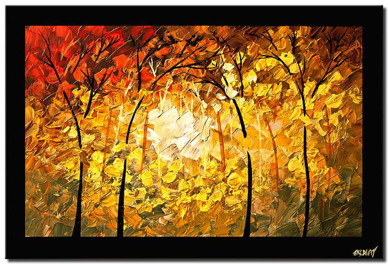 canvas print of textured shiney forest