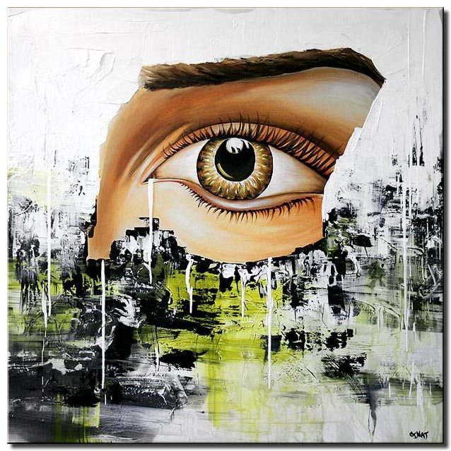 canvas print of abstract painting human eye