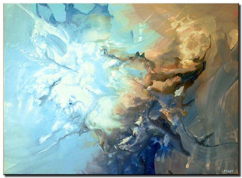modern art blue abstract painting