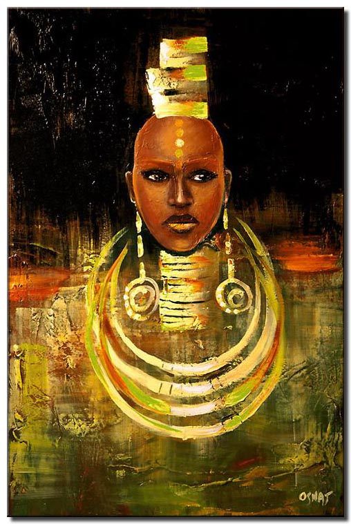 canvas print of face of an african woman front