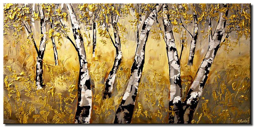 canvas print of a forest of birch trees