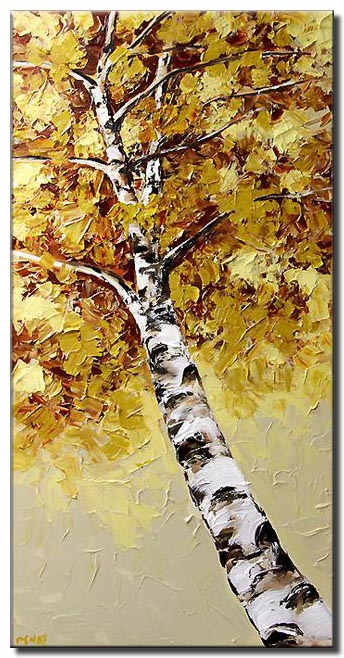 canvas print of birch tree blossom