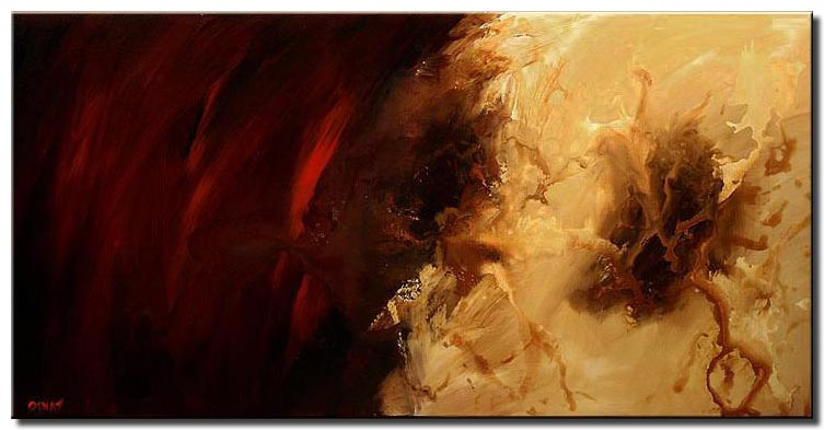 red modern abstract painting