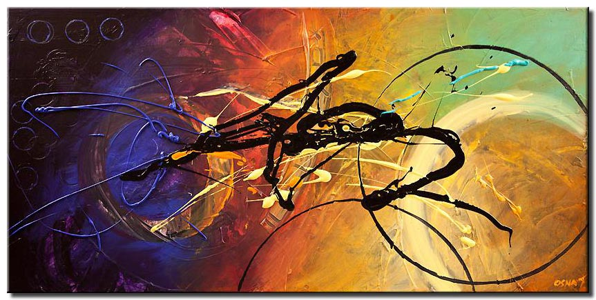 canvas print of colorful modern contemporary textured abstract