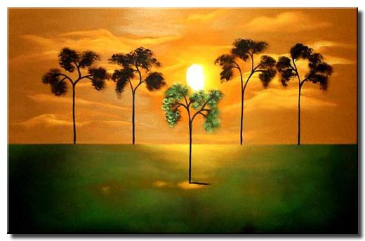 secluded marsh tree painting