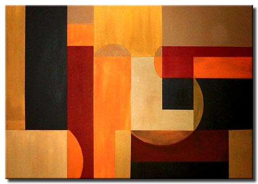 abstract shapes painting