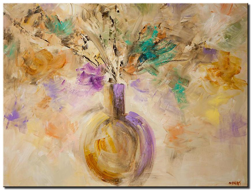 canvas print of soft pastel colors floral painting modern abstract art