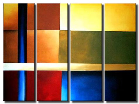 multi panel abstract planes