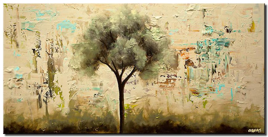 canvas print of blooming tree painting