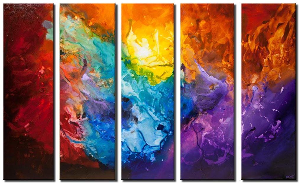 original colorful contemporary abstract art