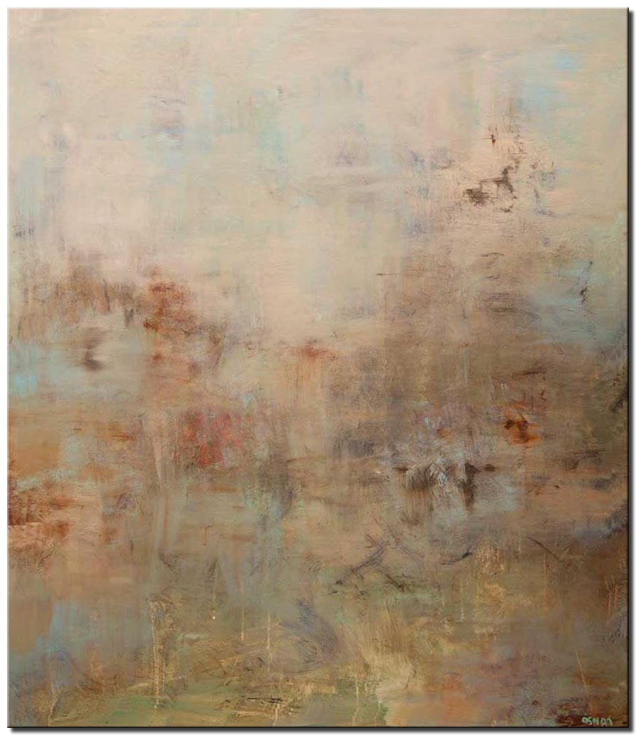 canvas print of calm soft abstract art modern art