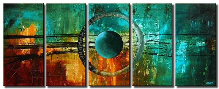 canvas print of eye forming planet