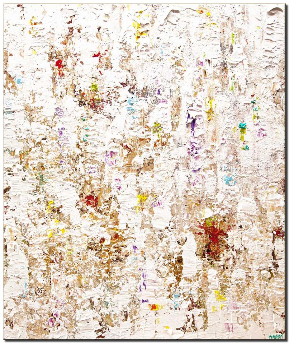 canvas print of modern white textured abstract painting home decor