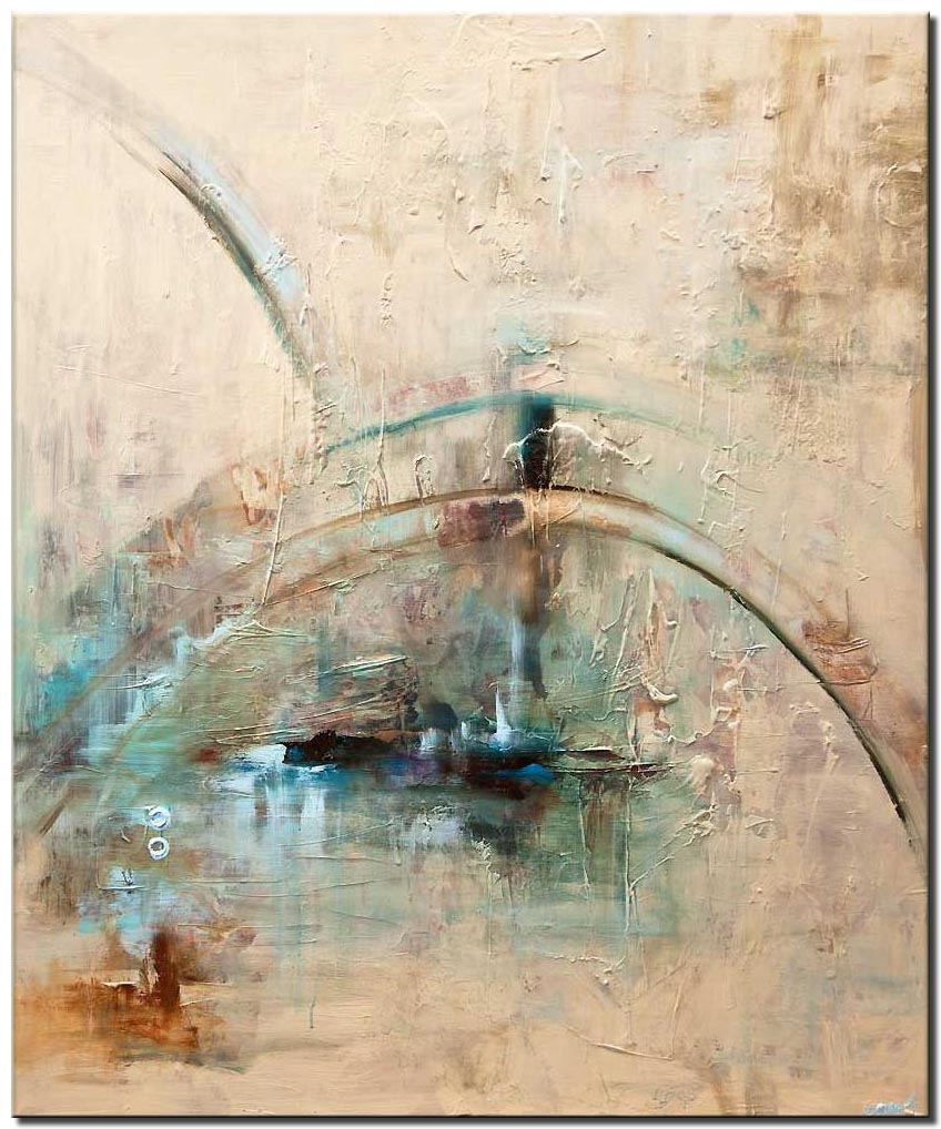 big abstract art the dome textured modern abstract painting