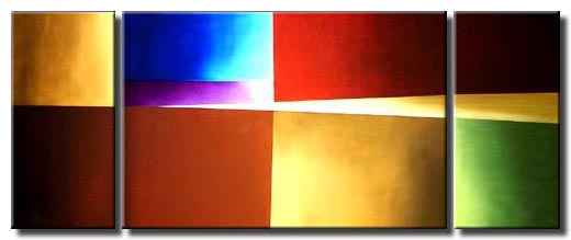geometric triptych canvas