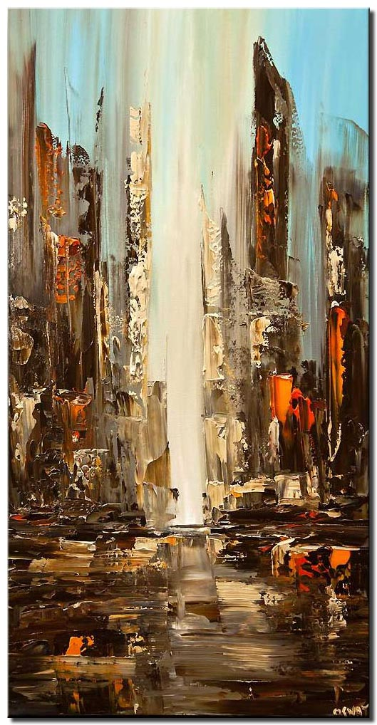 city view abstract painting