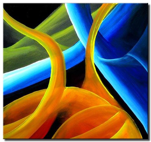 sensual abstract painting