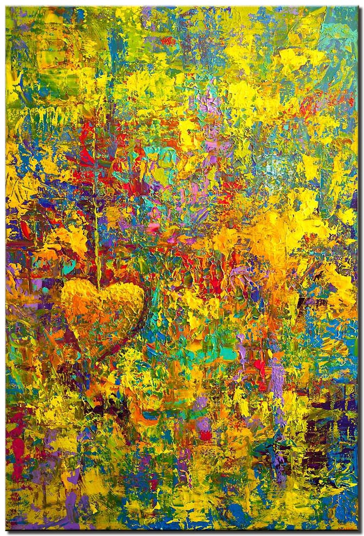 huge colorful textured abstract art
