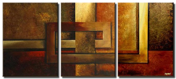 canvas print of geometrical painting triptych wall decor