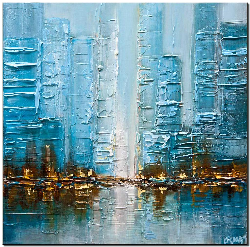 blue city abstract painting