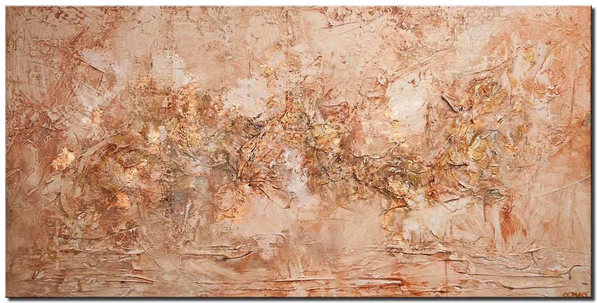 copper textured abstract art