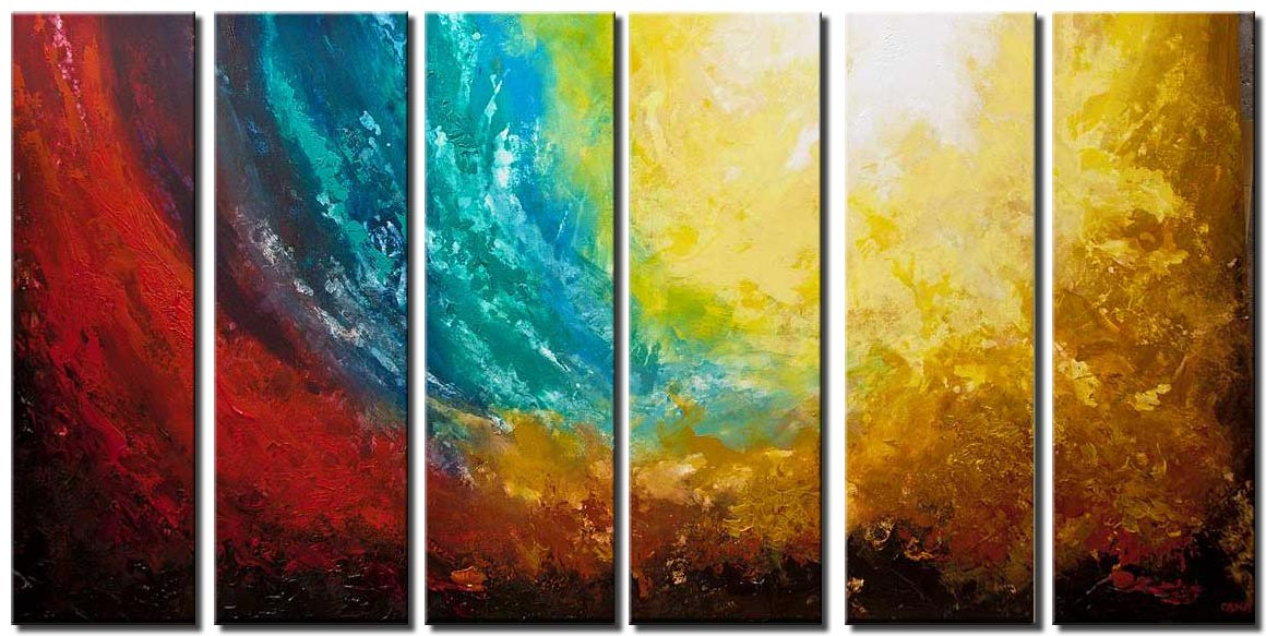 canvas print of huge abstract paintign earth painting