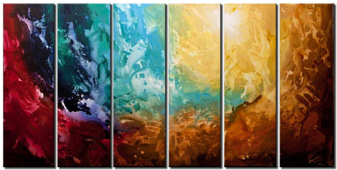 canvas print of earth abstract art huge painting
