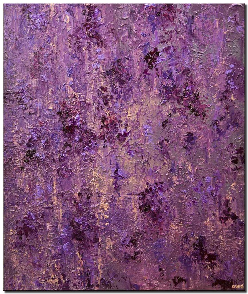 modern purple textured abstract art