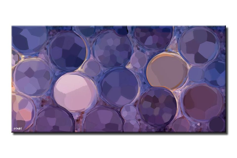 canvas print of purple abstract painting huge giclee print