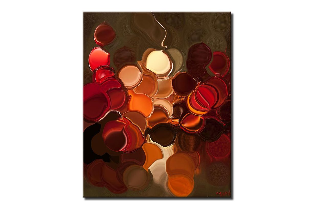 canvas print of Modern Geometric Abstract Giclee Print