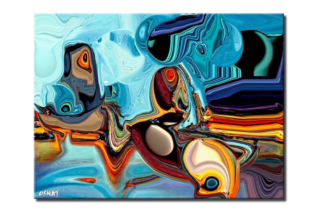 canvas print of blue abstract print