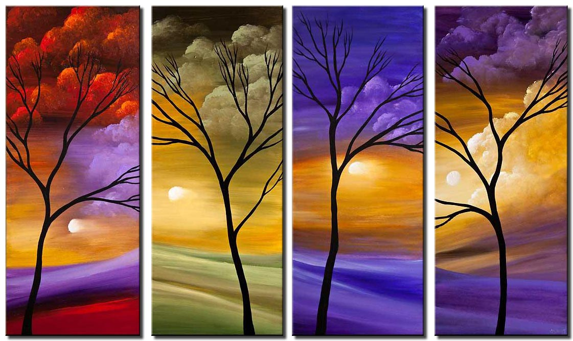 canvas print of four seasons painting