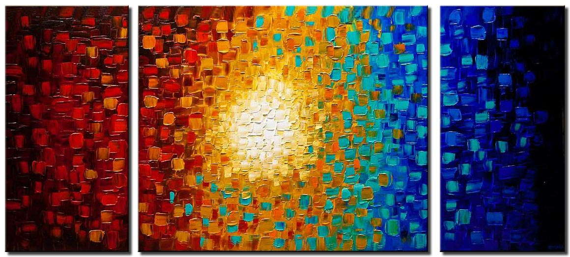canvas print of modern colorful textured abstract painting
