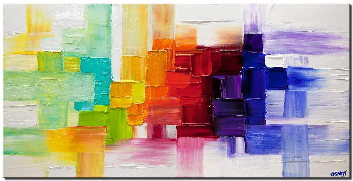 canvas print of modern abstract art on canvas