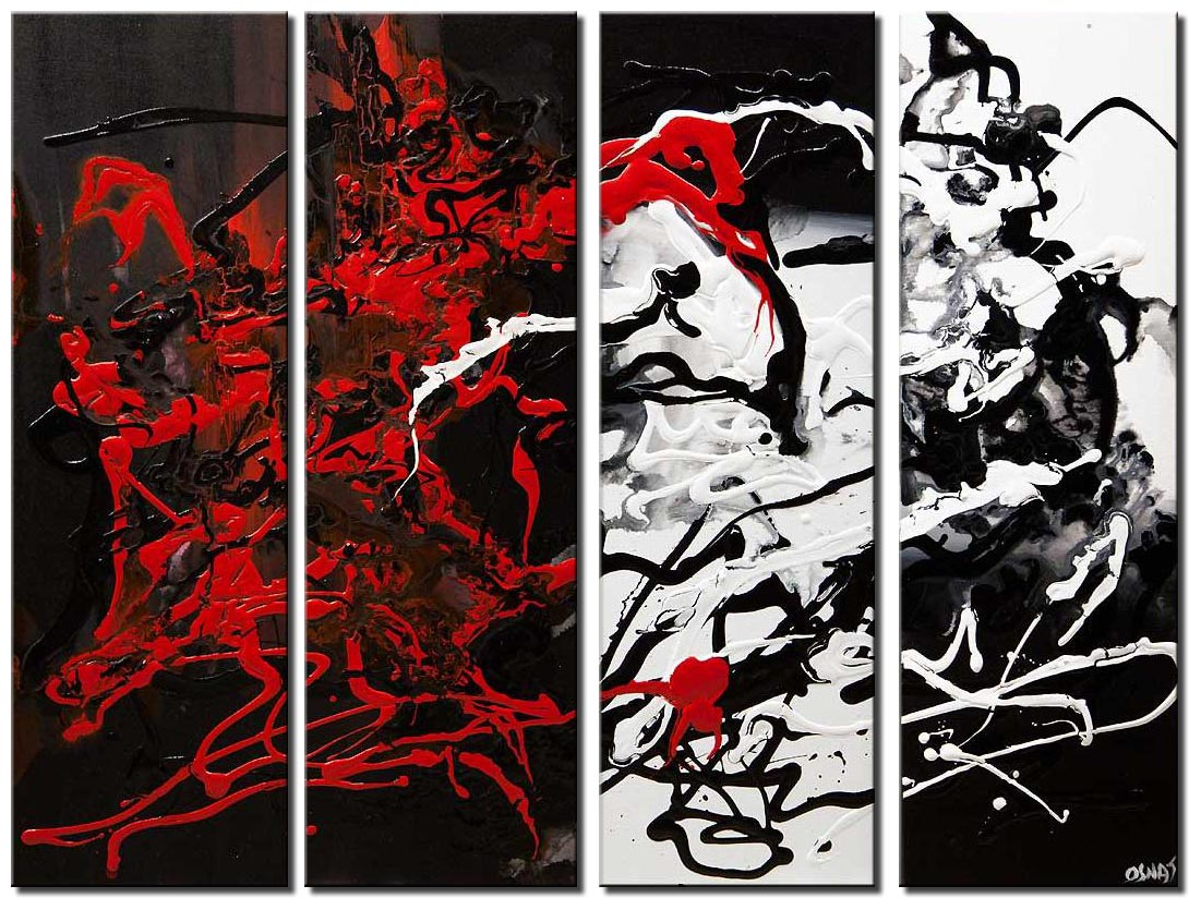 Black White Red Art