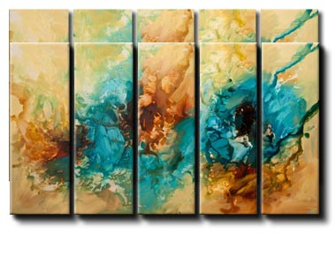 canvas print of modern abstract painting dune art