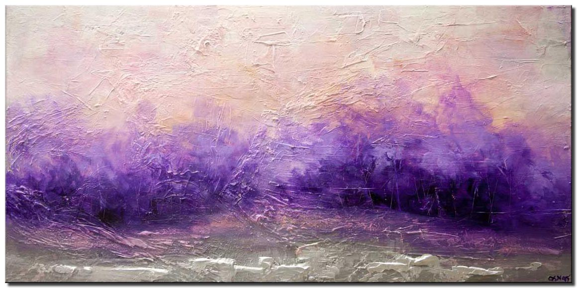 purple landscape abstract painting