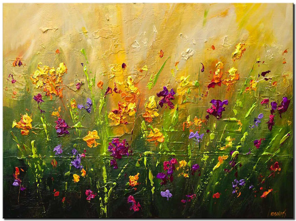 blossom colorful flowers painting